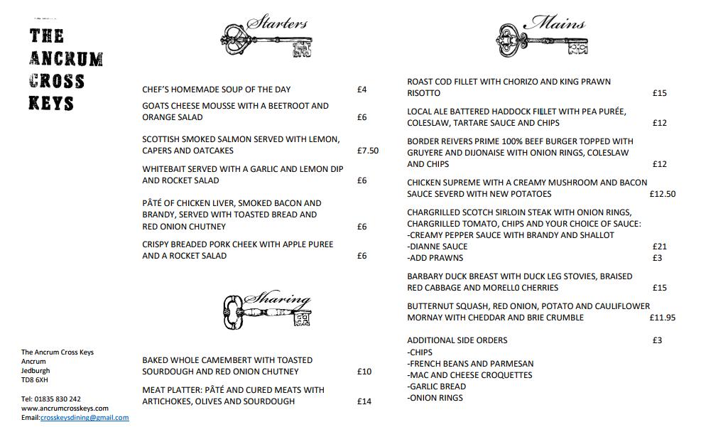 New pub menu