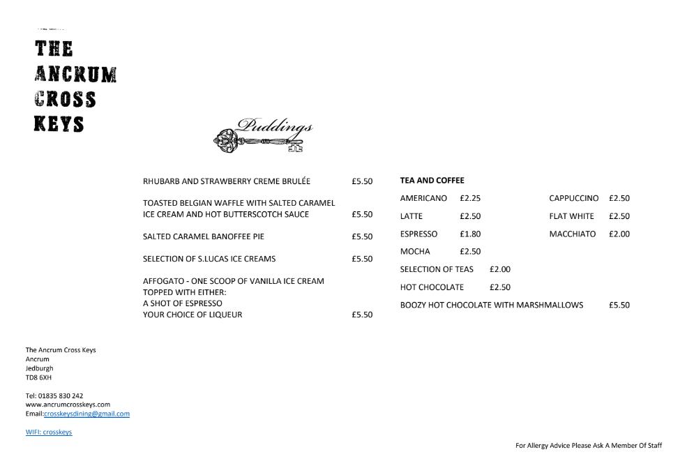 autumn pub menu rear